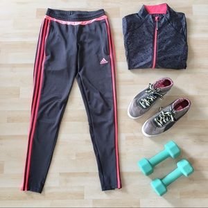Adidas Tiro 15 Dark Grey & Pink Training Pant XS